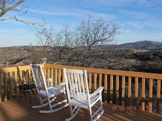 Julian, CA: view from deck