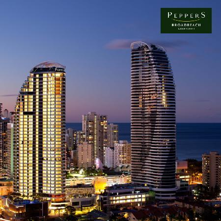 Peppers Broadbeach by night