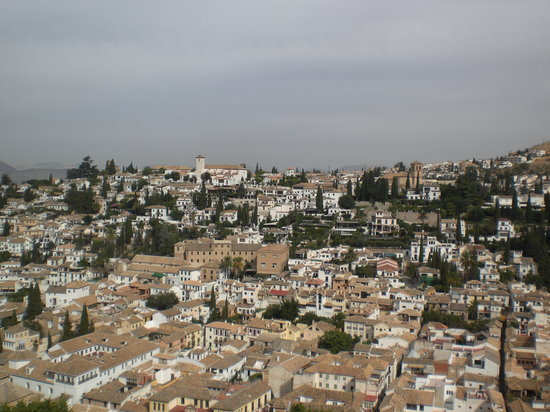 Granada, Spanien: quartier de l&#39;Albayzin vu de l&#39;Alhambra