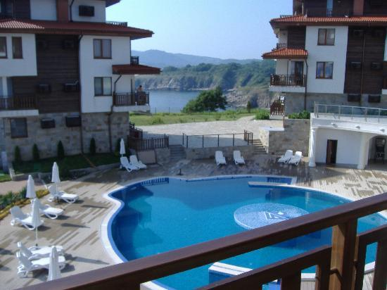 Sozopol, Bulgaria: View from Balcony to resort