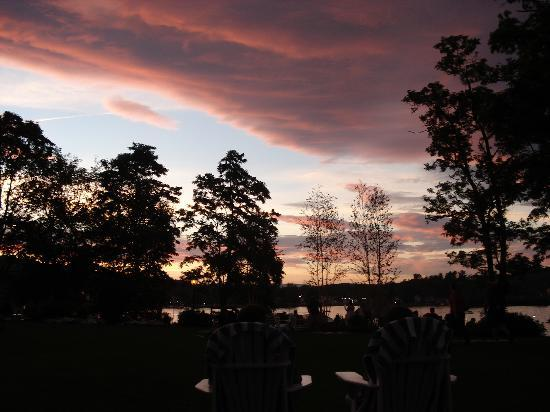 Meredith, NH: Sunset over the bay