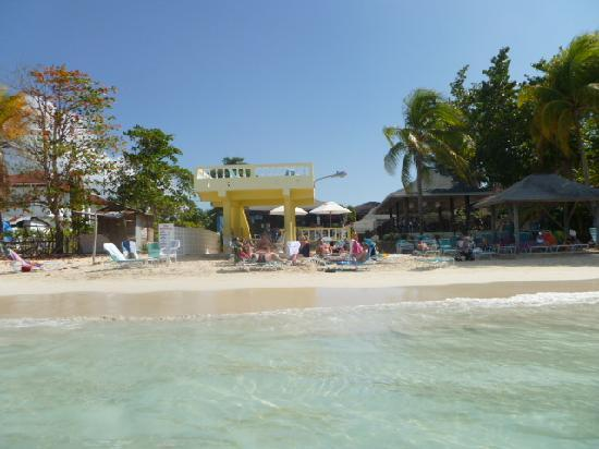 White Sands Negril : Our beach from the water