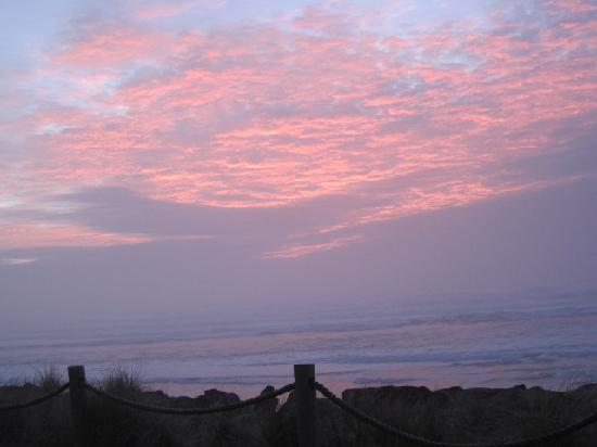 Neskowin, OR: Sunset, from deck of #7