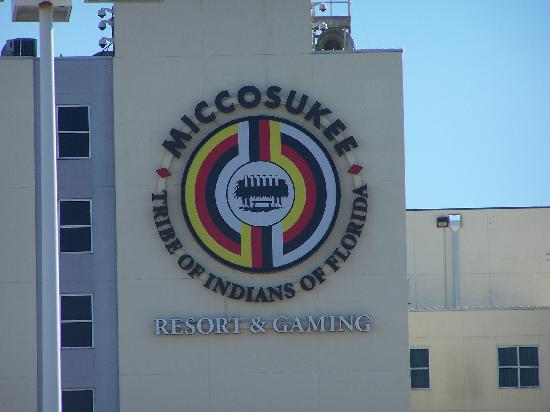 Miccosukee Resort and Conference Center: View from the back parking lot