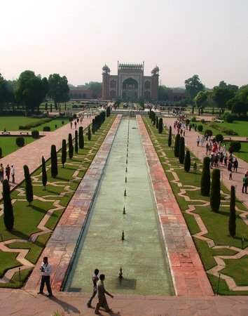Agra, Indie: View from the Taj itself