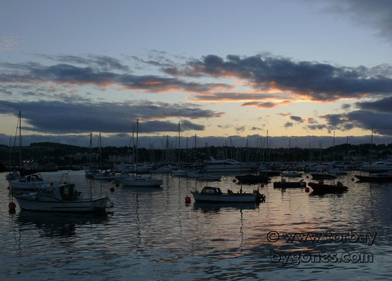Torquay Harbour at dusk