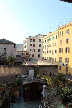 B&B Danilo Roma: The view from our room over Rome's rooftops