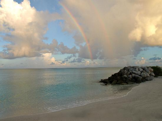 Bimini : rainbow over the beach
