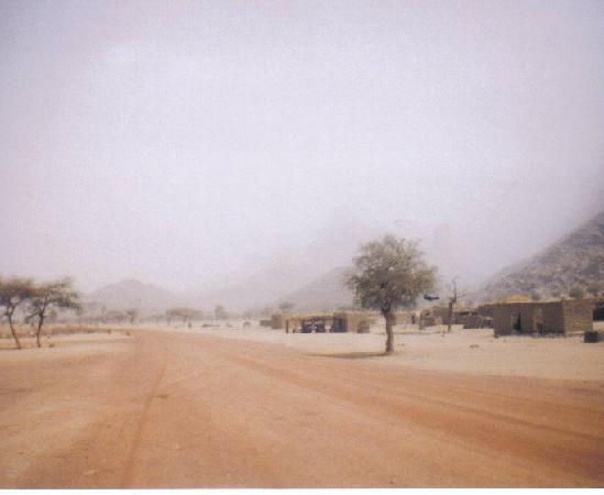 Sandstorm in Sub-Sahara Republic of Mali