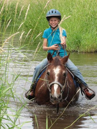 Sandpoint, ID: Horseback riding is one of the ranches many activities
