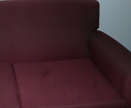 Hampton Inn Huntsville - Arsensal/South Parkway: Sofa stains and dirty
