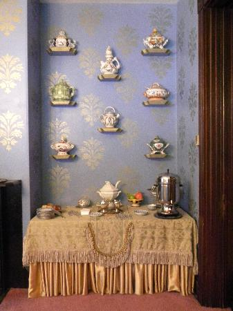 Firmstone Manor: The sideboard with china collection
