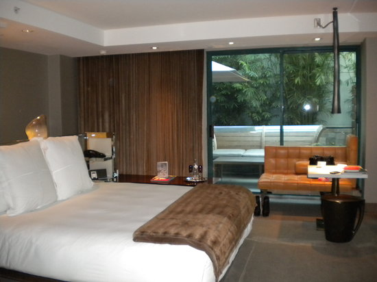 SLS Hotel at Beverly Hills: our room with a private patio