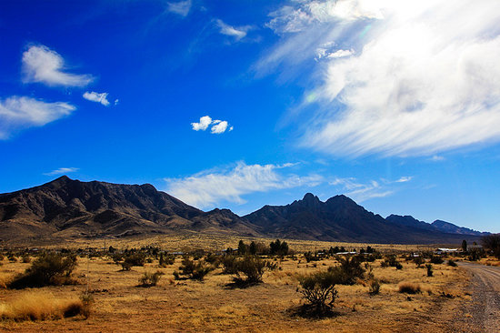 Las Cruces, Nuevo Mexico: View leaving the driveway