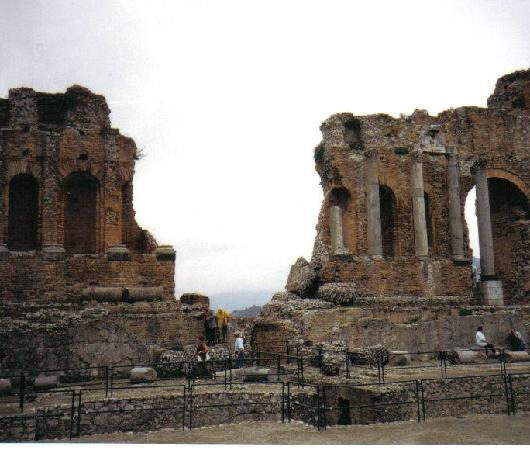 Taormina Sicily Teatro Greco built in  3rd Century B.C.