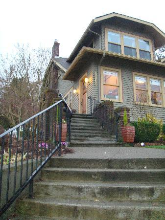 "Greenlake Guest House: Walking up the stairs to our ""home away from home"""