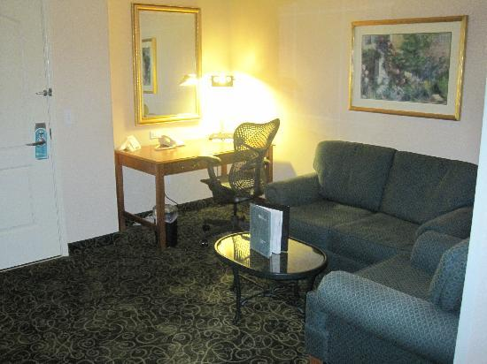 Hilton Garden Inn Portland Airport: Living Room Area