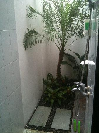 Bonsai Villas: Open air shower