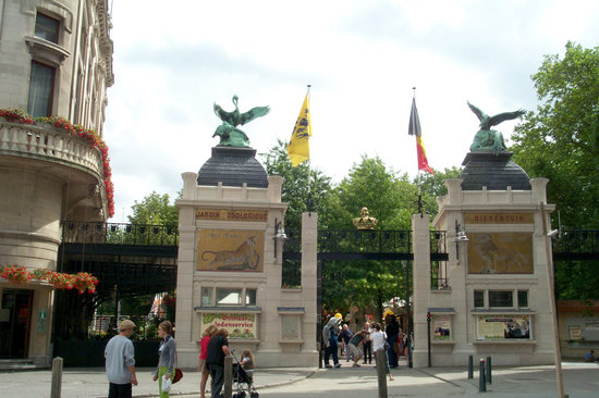 Antwerpen, Belgien: Zoo entrance