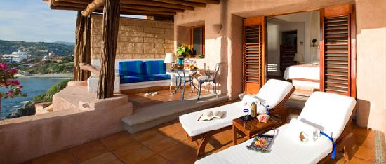 La Casa Que Canta: Grand Suite terrace