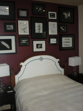 "Bancroft Hotel : Our newly renovated ""wine"" colored room."