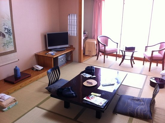 Ryokan Biyunoyado: Typical Japanese room (there are a few Japanese/Western ones available though)
