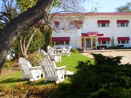 Holiday Music Motel: Relax in an adirondack chair, enjoy a meal at our picnic table, or have a campfire in our fire p