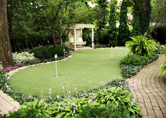 Real Putting Green Backyard :  Centric Real Estate Putting In A Backyard Putting Green  Part 2