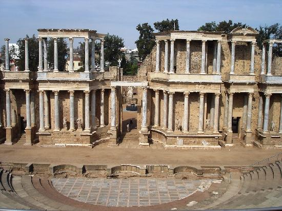 Merida, Spanien: Roman Amphitheater, Mérida, Spain
