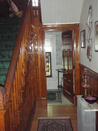 Henry Whipple House: One of two stairways to bedrooms