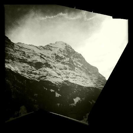 Jasmine Apartments: View of the North Face of the Eiger from our Balcony