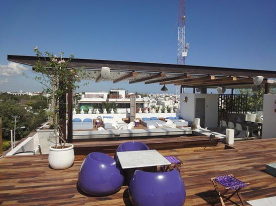 Rooftop terrace picture of be playa hotel playa del for Terrace roof design philippines