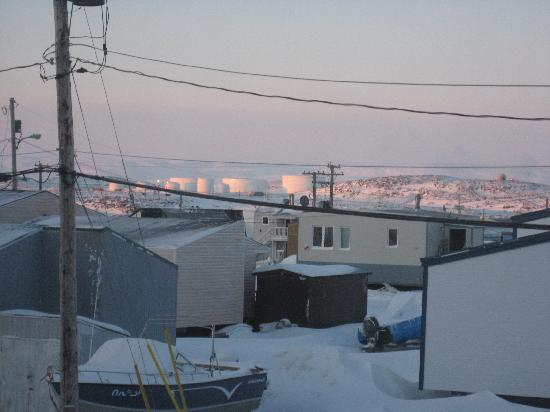 Iqaluit, Kanada: view from living room