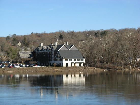 The Inn at Lambertville Station from the bridge