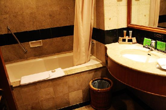 Kota Bukit Indah Plaza Hotel: Bathroom of the hotel