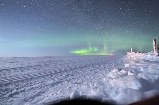 Saariselka, Finland: Managed to see the northern lights from the top of the tobbogan run
