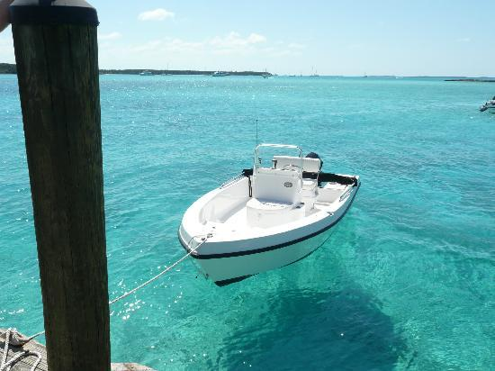 Fowl Cay Resort: your personal boat