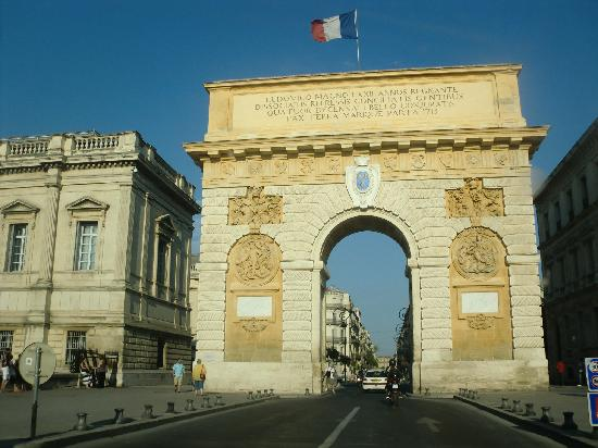 Montpellier, France: arco di trionfo