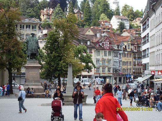 St. Gallen, Switzerland: Town scene