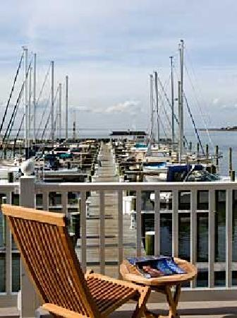 "Inn at Osprey Point: A view from the ""Port/Starboard"" porch overlooking Gratitude Marina and gives a full view of the"