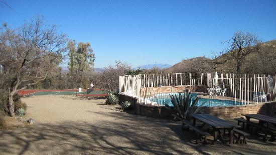Elkhorn Ranch: the swimming pool and tennis courts