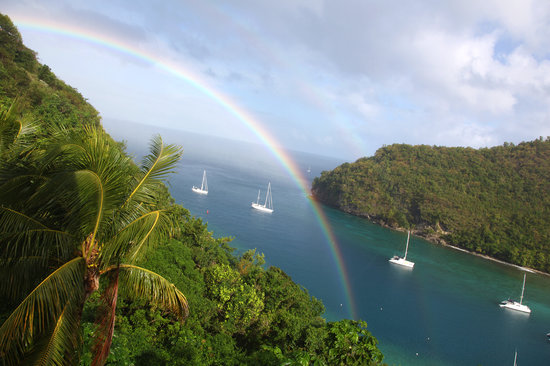 Oasis Marigot : Rainbow from the Great House
