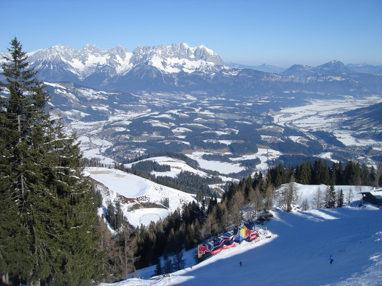 Look from Streif on Kitzbühel