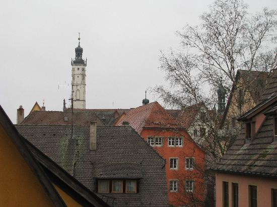 Guesthouse Edith: View 3 looking straight out again.  The top of the rathaus in the distance