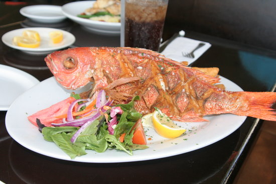 Whole fried vermillion snapper 25 picture of palm for Ponte vedra fish camp