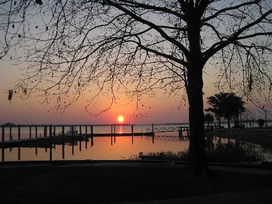 Mount Dora, FL: Sunset on the Mt. Dora side of the lake