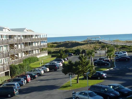 view from common balcony NORTH CAROLINA   Peppertree Resort Atlantic Beach