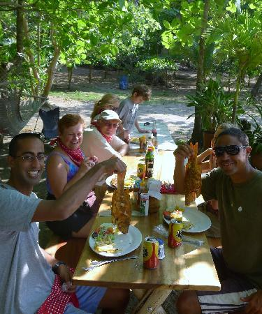 Villas Hermosas: Brad (front right) and guests having lunch during ATV tour
