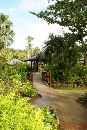 Garden and Hotel Grounds at East Winds Inn, Gros Islet