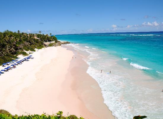 Saint Philip Parish, Barbados: crane's own peach sand beach